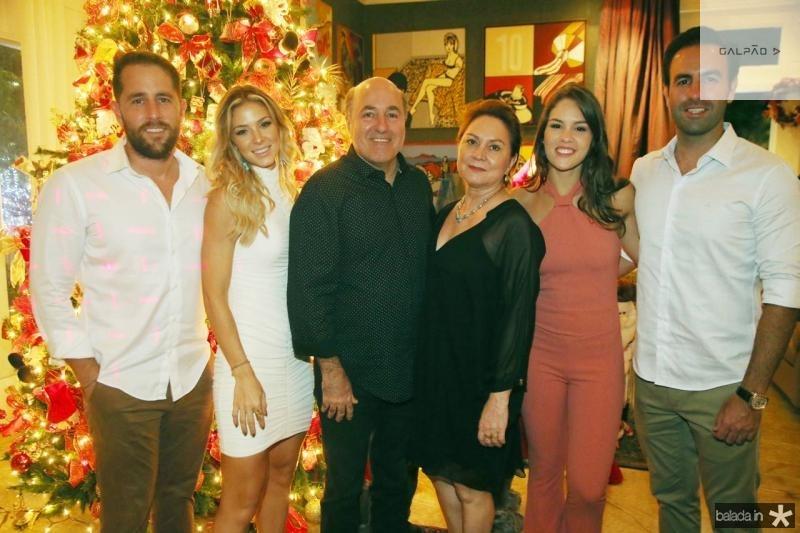 Rodrigo Frota, Bruna Waleska, Silvio e Paula Frota, Dani Eloi e Vitor Frota
