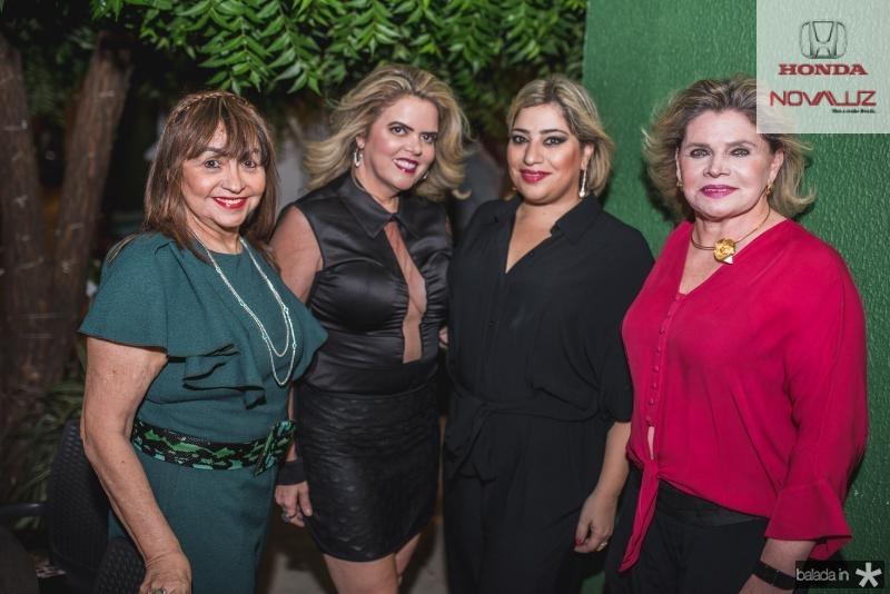 Carmen Cinira, Waleska Rolim, Manu e Sandra Romcy