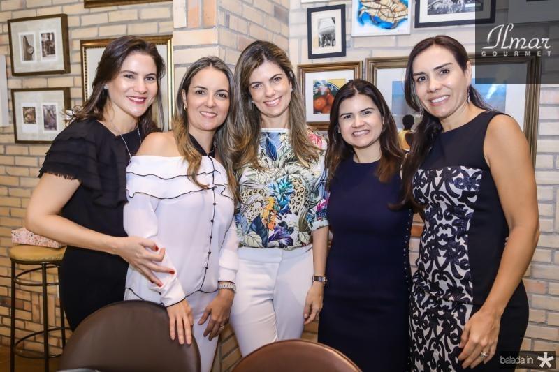 Luciana Borges, Raquel Vasconcelos, Ines Castro, Ticiana Brigido e Anne Alcantara