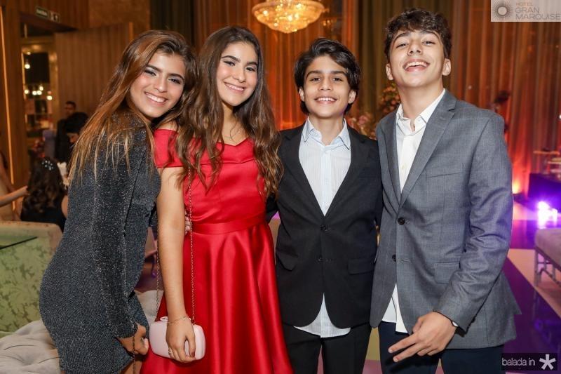 Nina Uchoa, Sofia Souza, Bernando Helery e Aroldo Albuquerque
