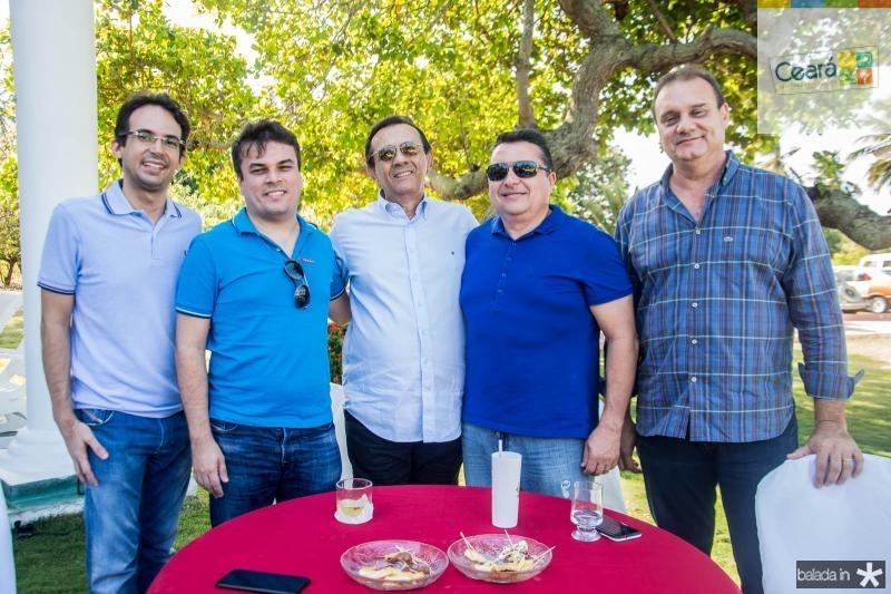 Gaudencio Junior, Marcos Freire, Alexandre Gondim, Eginaldo Oliveira e Marcos Nogueira