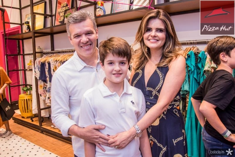 Ferruccio Feitosa, Ferruccio Filho e Cristine Feitosa