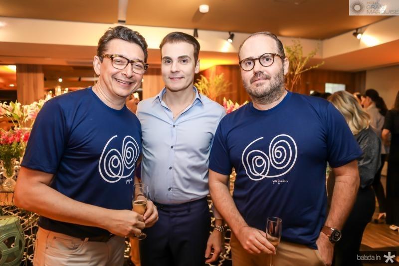 Racine Mourao, Rodrigo Maia e Roberto Pamplona