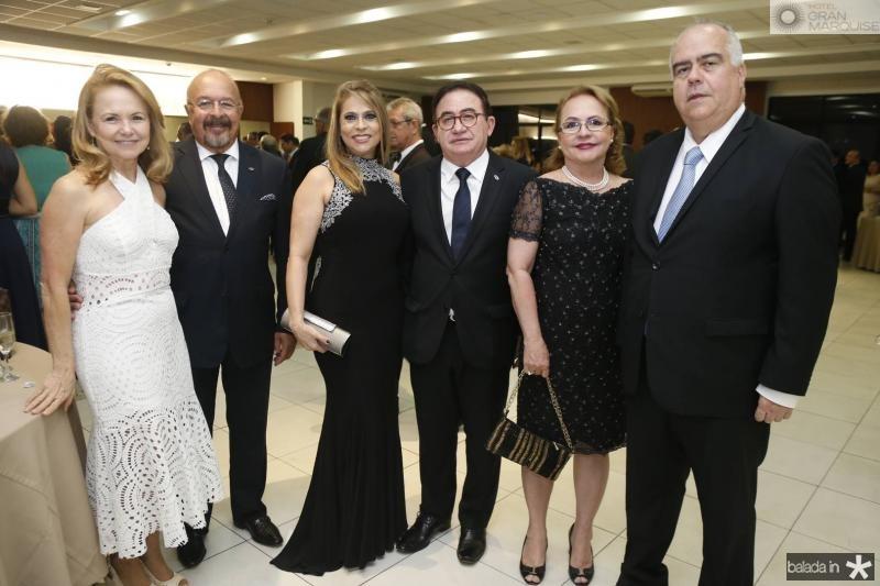 Josefina e Eduardo Fontes, Morgana e Manoel Linhares, Andelica e Clovis Carneiro
