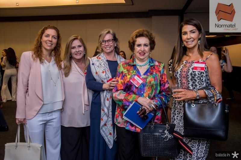 Ticiana Rolim Queiroz, Ritelza Cabral, Bia Perlingeiro, Leda Maria e Denise Montenegro