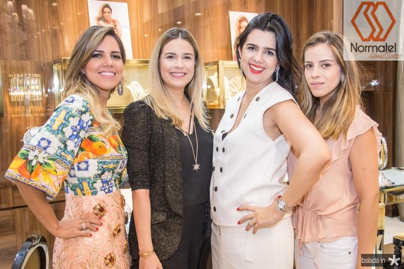 Ana Carolina Fontenele, Camila Sa, Priscila Fontenele e Isabel Brasil