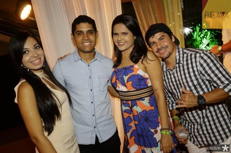 Rochelle Matias, Weberson Fernandes, Tamara Cunha e Alfredo Maia
