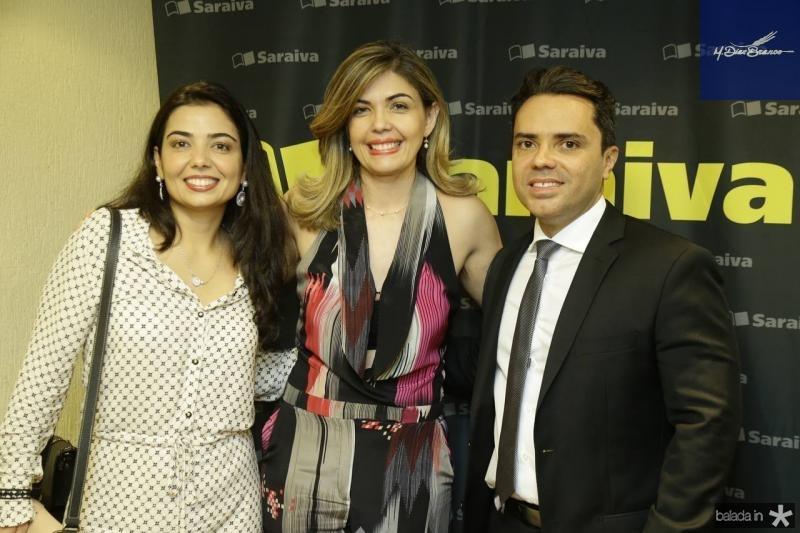 Janaina Noleto, Micheline Forte e  Emerson Castelo Branco