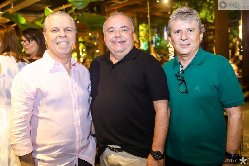 Claudio Studart, Pedro Carapeba e Tiburcio Frota
