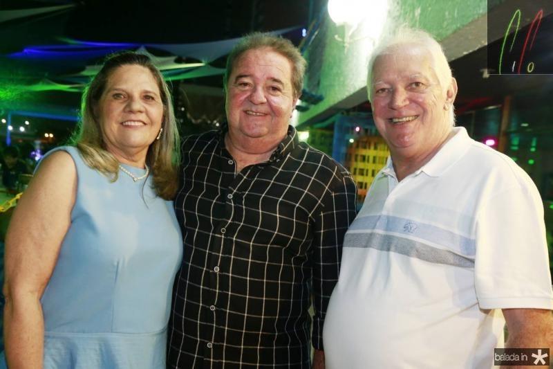 Claudia, Chiquinho e Newton Aragao