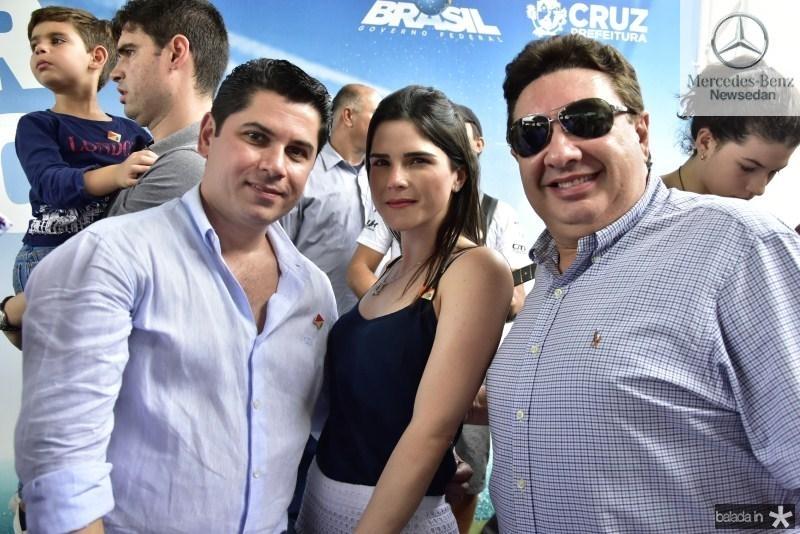 Pompeu Vasconcelos, Marilia Quintao e Marcos Dias Branco