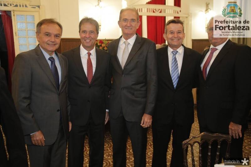 Adauto Farias, Chico Jereissati, Ricardo Brasil, Joao Carlos e Junior Studart