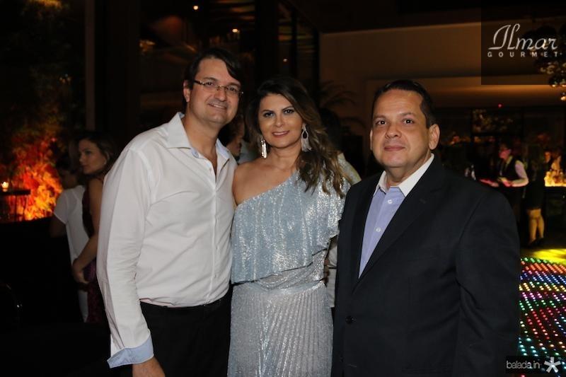 Edilson e Micheline Pinheiro com Marcos Lage