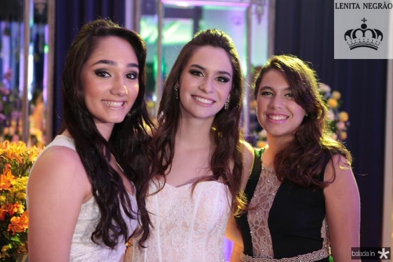 Luana Sales,Carol Albuquerque e Isabelle Novais