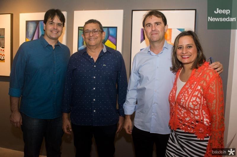 Wilson Fiuza, Jose Guedes, Alexandre Landim e Mariana Furlani