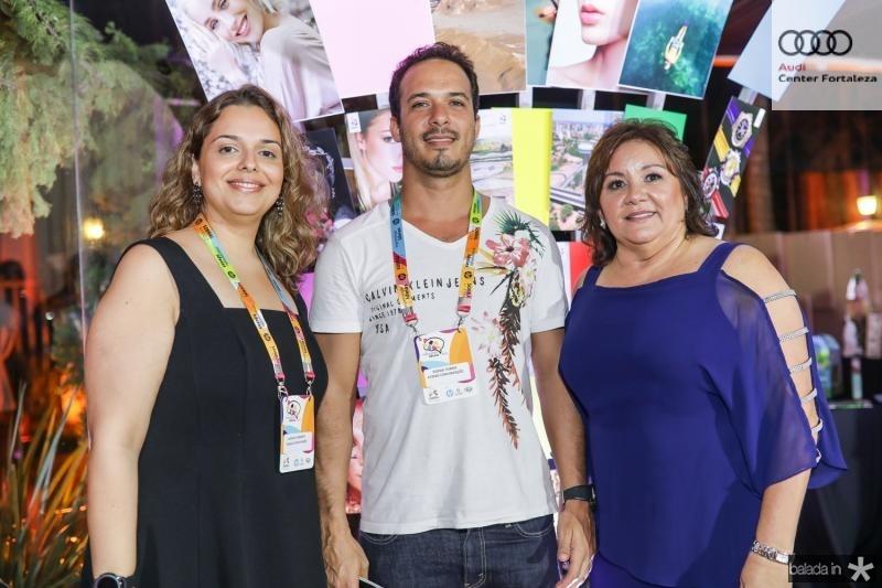 Luciana Junqueira, Rodnei Torres e Norma Brito