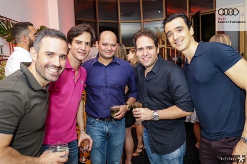 Mario Feitosa, Paulo Mota, Otilio Ferreira, Marcos Feitosa e Expedito Machado