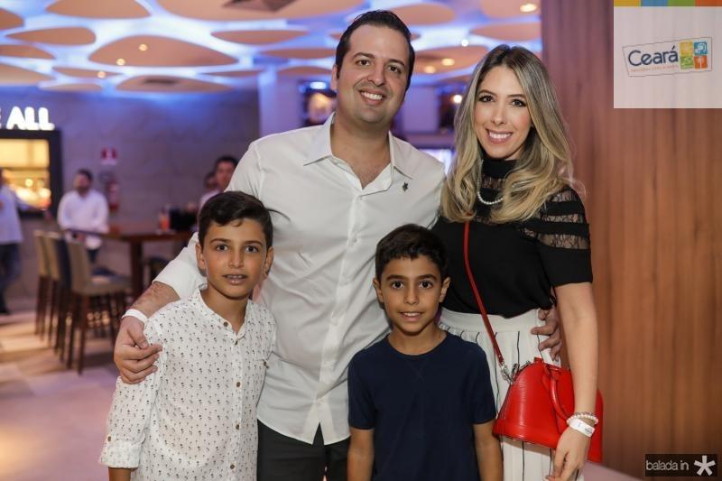 Bruno, Rodrigo, Daniele e Daniela Ponte