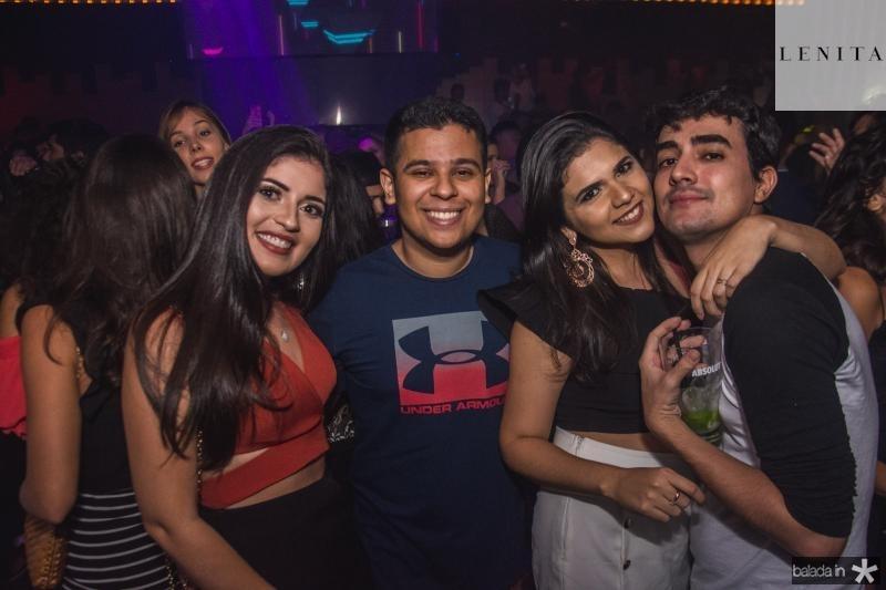 Maira Tavares, Renan Abidol, Jamile Melo e Ariel Costa