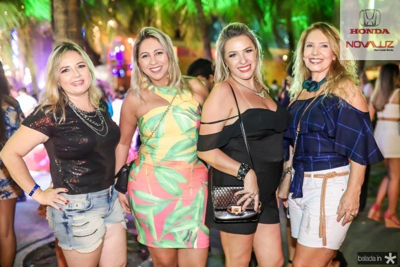 Janaina Coelho, Crislene Araujo, Gisele Padovan e  Wilna Braga