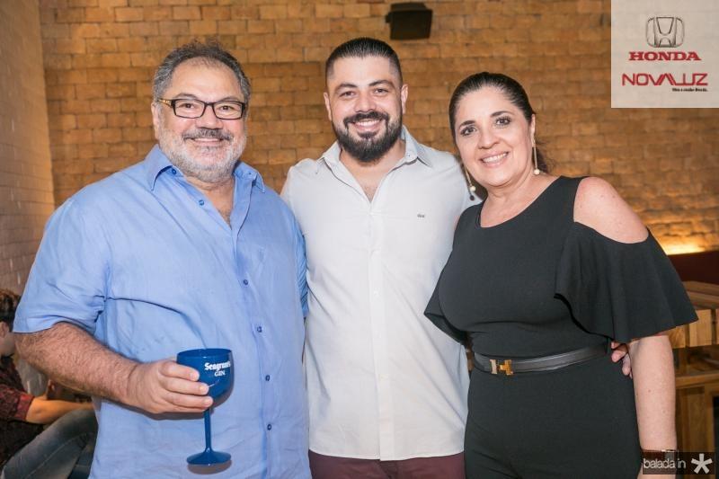 Rodolfo, Rodrigo e Tereza Morais