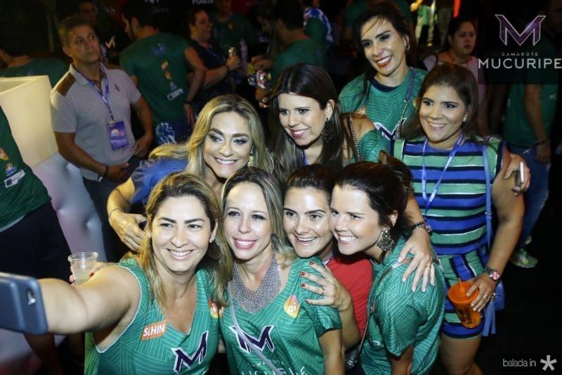 Celia Magalhaes, Marina Albuquerque, Ane Alcantara, Gisela Vieira, Tais Matias, Raquel Barreira, Ira Frota e Juliana Cabral 1