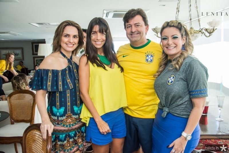 Mirna Paz, Rafaele Vieira, George Vieira e Tatiana Luna