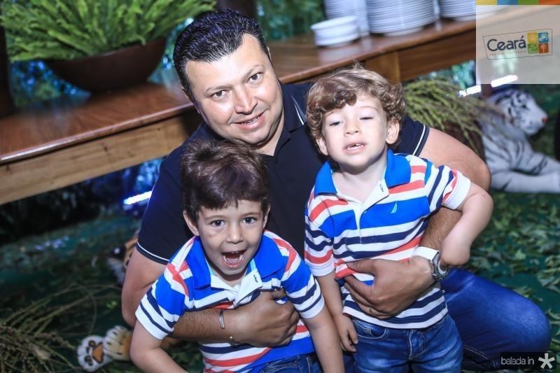 Rafael, Elano e Gabriel Aragão