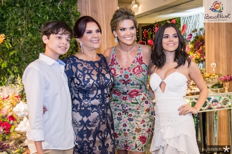 Cristiano Filho, Roseane Campos, Pauliani Campos e Cristiane Cruz