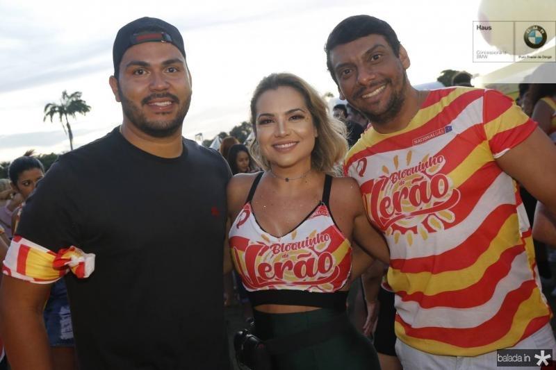 Edmilson Junior, Risangela Lima e Gilberto Ricarte