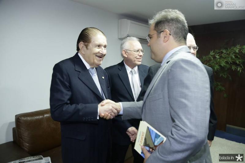 Mauro Benevides e Edson Queiroz Neto