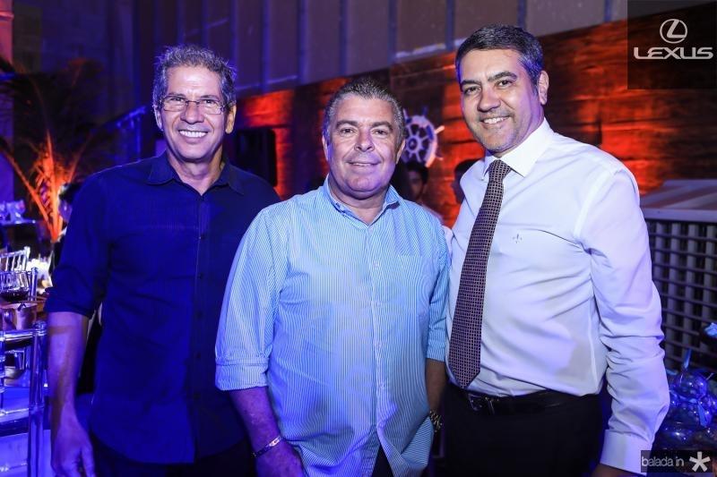 Severino Ramalho Neto, Ricardo Studart e Luis Eduardo Morais