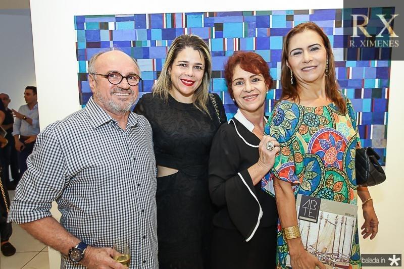 Vando Figueiredo, Flavia Castelo, Lilian Quindere e Debora Moreira