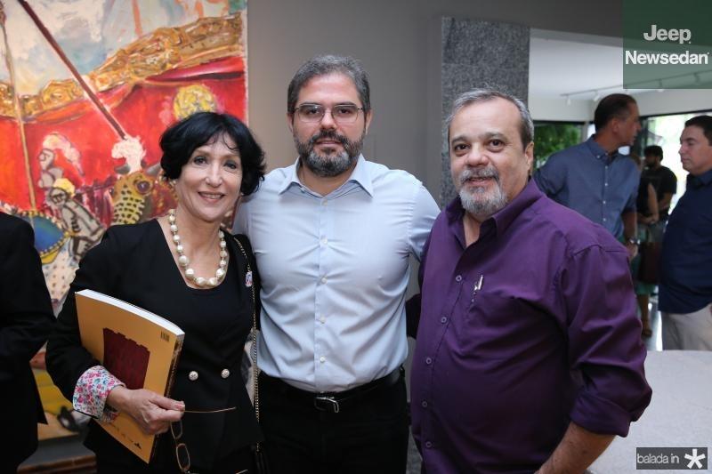 Dinise Mattar,Edosn Neto e Eduardo Freire