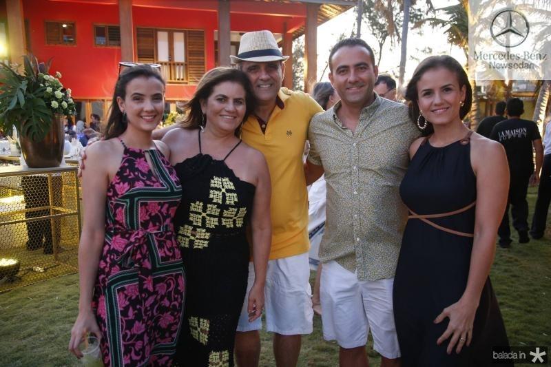 Paloma, Islane, Andre e Reno Vercosa e Andrea Mourao