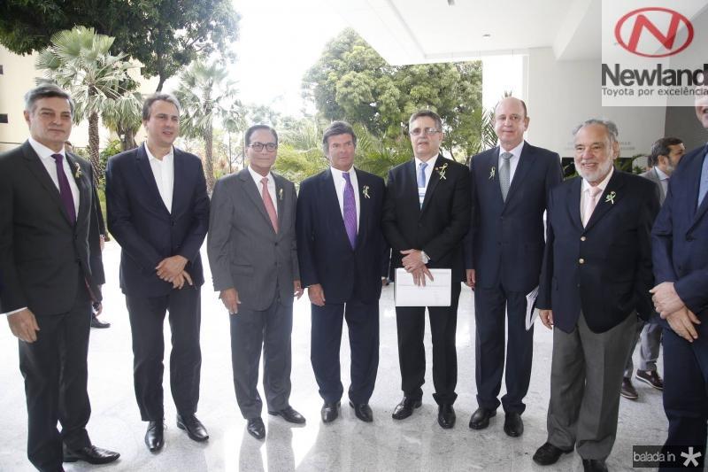 Cid Marconi, Camilo Santana, Beto Studart, Luiz Fux, Carlos Gama, Benjamin Zimler e Sylvio Campanema
