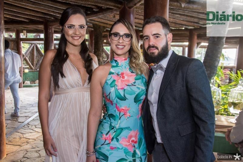 Lorena Maia, Ticiane Moraes e Luis de Paula