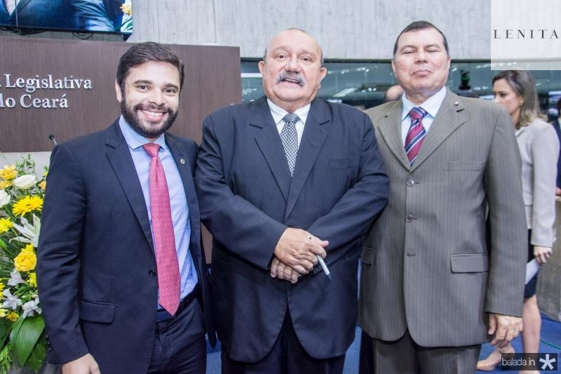 Julio Cesar, Fernando Colares e Duarte Frota