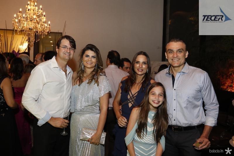 Edilson e Michelinne Pinheiro com Patricia Studart, Rebeca Studart e Josmario Cordeiro
