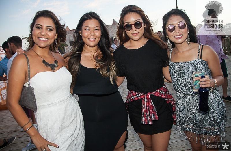 Ana Amelia, Ji Soo Kaim, Nadia Shin e Nivia Omoto
