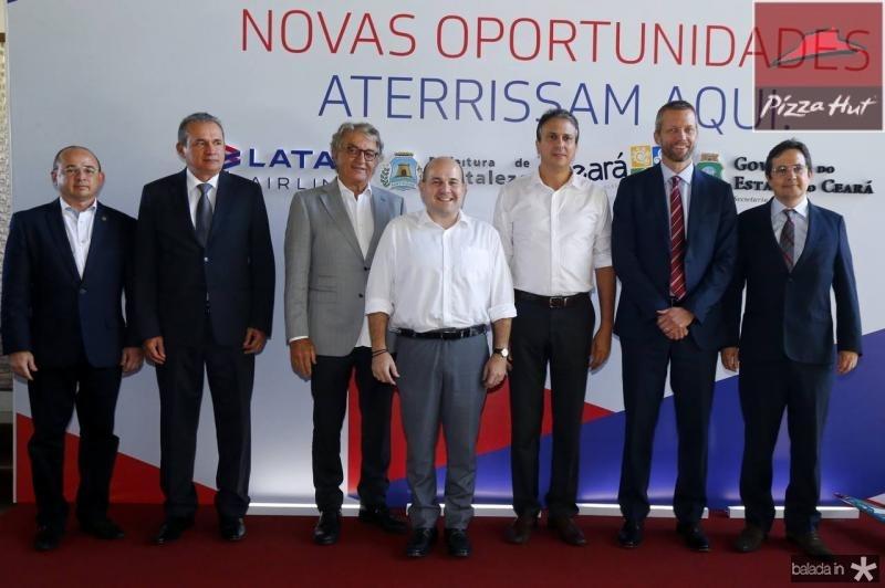 Sergio Aguiar, Washington Luiz, Arialdo Pinho, Roberto Claudio, Camilo Santana, Jerome Cardie e Edilberto Pontes 1