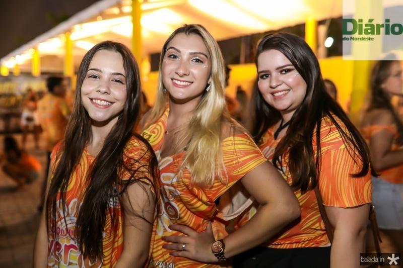 Yasmin Lopes, Iana Gomes e Clara Ventura