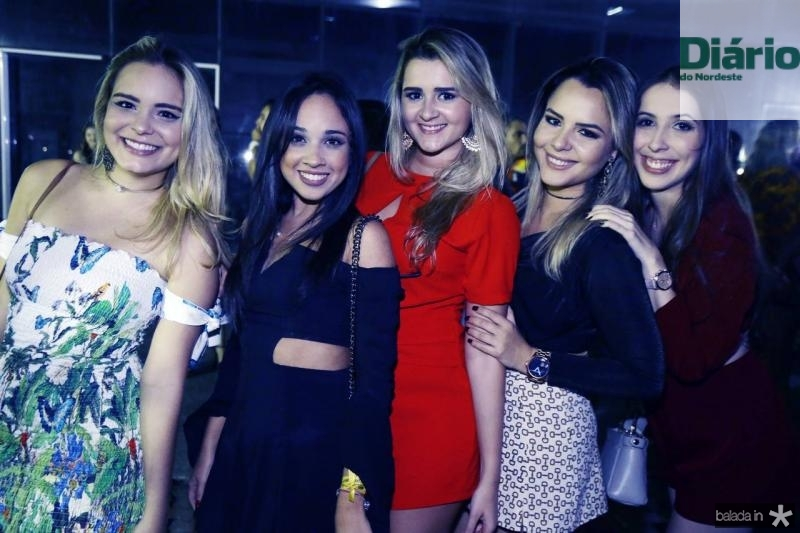 Milena Pires, Catarina Maciel, Jessica Aguiar, Aime Peixoto e Lia Viana