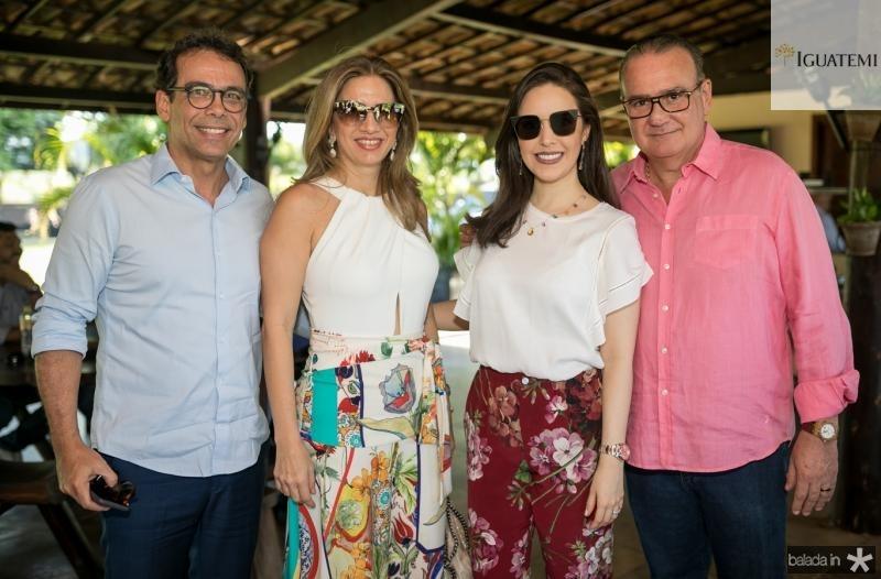 Gustavo e Karmilse Porto, Lucinha e Chiquinho Feitosa