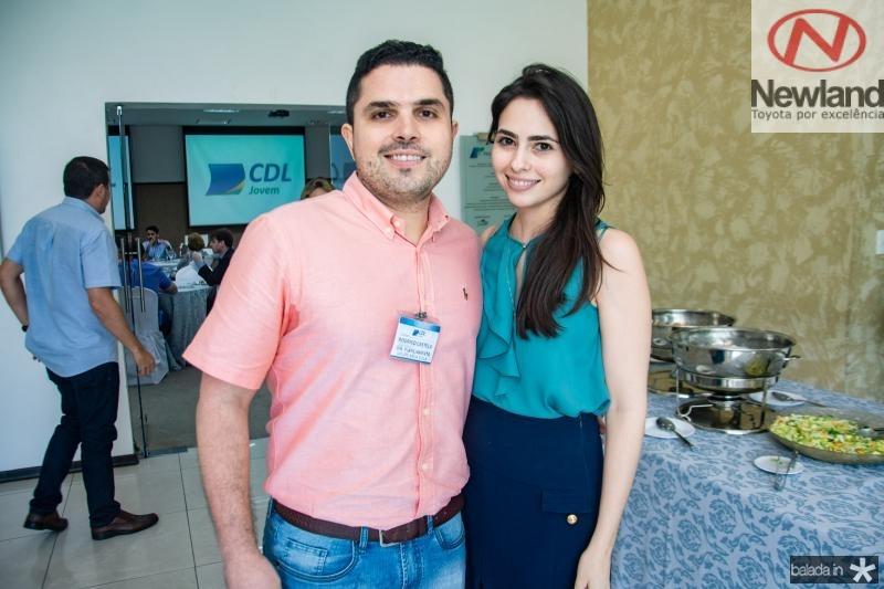 Rodrigo Castelo branco e Juliana Quindere
