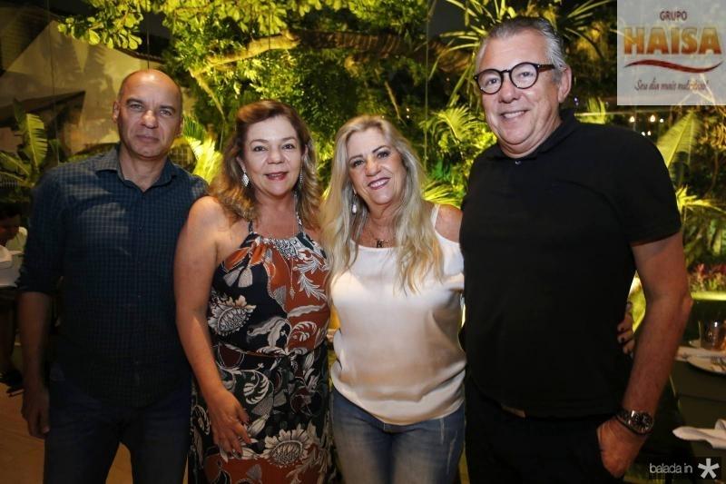 Valmir e Rosangela Mendes, Regina e Claudio Nelson Brandao