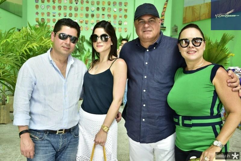 Pompeu Vasconcelos, Marilia Quintao, Luciano e Denise Cavalcante