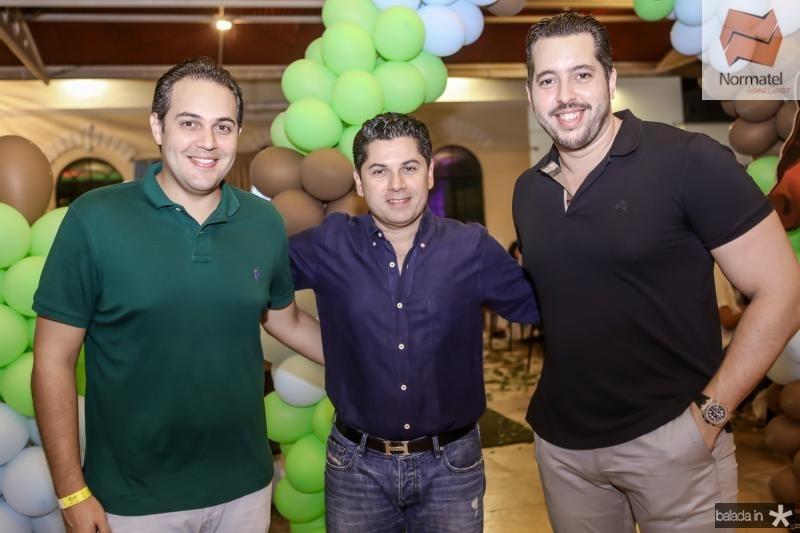 Bruno Bastos, Pompeu Vasconcelos e Tiago Leal