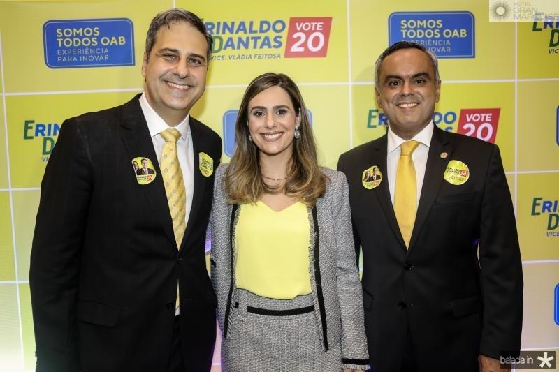Erinaldo Dantas, Vladia Feitosa e Marcelo Mota