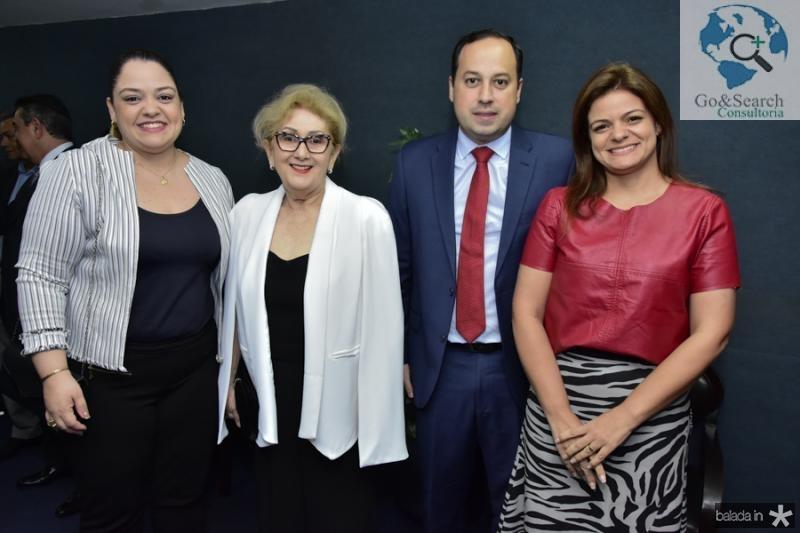 Isabele Cavalcante, Socorro Franca, Sandro Camilo e Rafaela Cavalcante